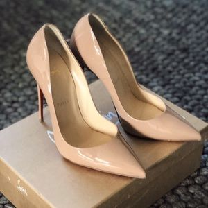 Christian Louboutin SO KATE 120mm nude patent